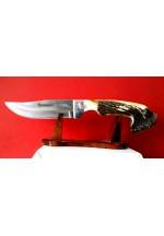 SBH4152 Sürmene elyapımı av bıçağı sap geyikboynuzu