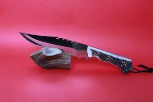 SBH4130 - Sürmene elyapımı av bıçakları sap geyikboynuzu.