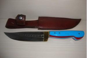 SBH4003 - Sürmene elyapımı av bıçağı sap bordo mavi