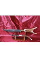 SBH4078 - Orjinal Geyik Boynuzu Saplı Hediyelik Sürmene Bıçağı