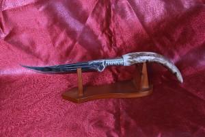 SBH4080 - Orjinal Geyik Boynuzu Saplı Hediyelik Sürmene Bıçağı