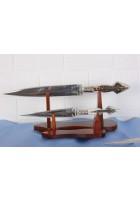 SBH4082 - Orjinal Geyik Boynuzu Saplı Hediyelik Sürmene Bıçağı