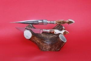 SBH4097 - Sürmene elyapımı çifte kaması sap geyikboynuzu.