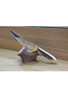 SBH4083 - Orjinal Geyik Boynuzu Saplı Avcı Bıçağı