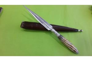 SBH4137 - Sürmene elyapımı kaması sap geyikboynuzu.