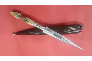 SBH4139 - Sürmene elyapımı kaması sap geyikboynuzu.