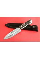 SBH4148 - Sürmene elyapımı av bıçakları sap geyikboynuzu.