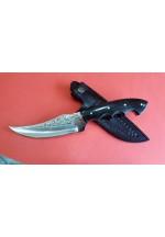 SBH4180-Sürmene El Yapımı Gravur İşlemeli Avcı Bıçağı