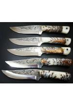 SBH4183-Sürmene El Yapımı Gravur İşlemeli Avcı Bıçağı