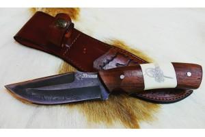 SBH4199-D2 Çeliğinden Sürmene El Yapımı Avcı Bıçağı