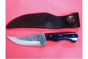 SBH4120 - Gravur İşlemeli Özel El Yapımı Avcı Bıçakları