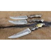 SBH4126 - Gravur İşlemeli Özel El Yapımı Avcı Bıçakları