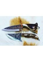 SBH4160-Sürmene elyapımı gravur işlemeli av bıçağı